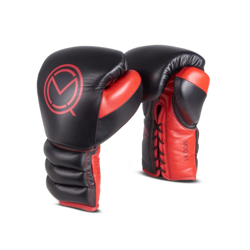 MOQ Red and Black Boxing Gloves - photography by Leicester packshot photographer Ian Knaggs
