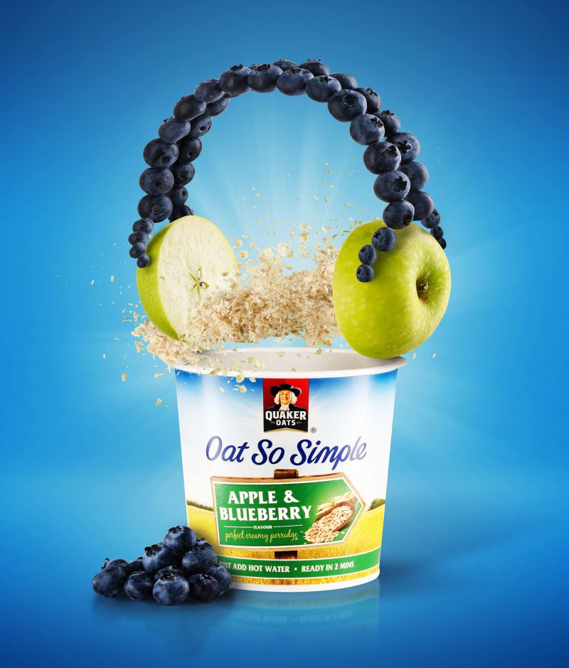 Ian Knaggs Commercial Product Photographer - Quaker Oats Apple Porridge