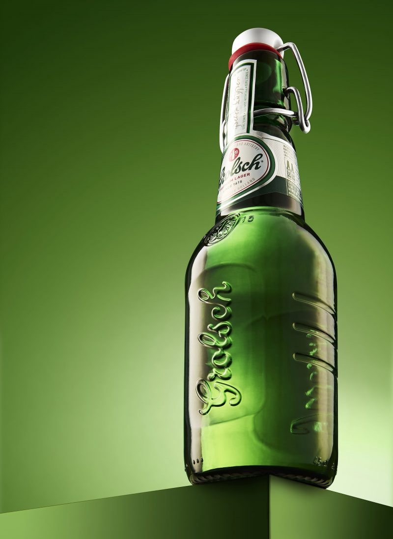 Ian Knaggs Commercial Product Photographer - Green Grolsch Bottle