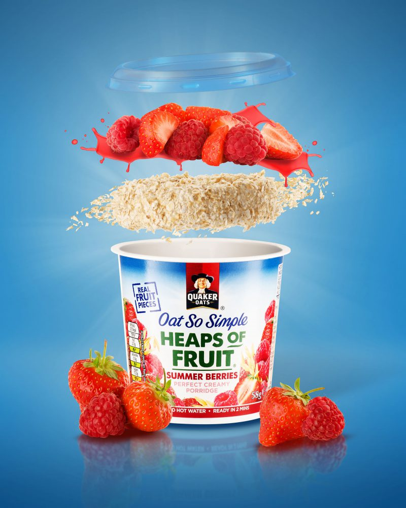 Ian Knaggs Commercial Product Photographer - Quaker Oats Strawberry Porridge