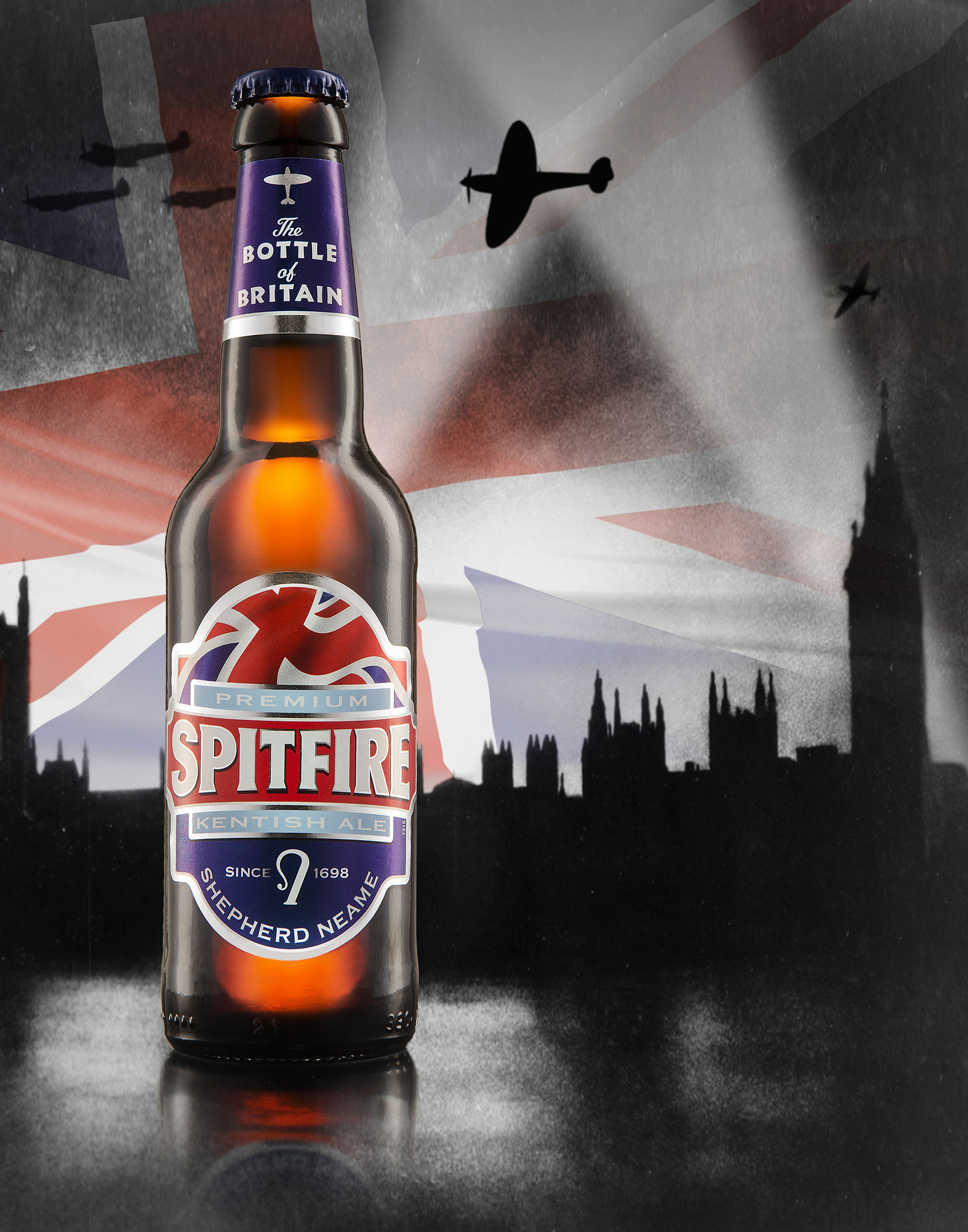 Ian Knaggs Commercial Product Photographer - Spitfire Ale Bottle