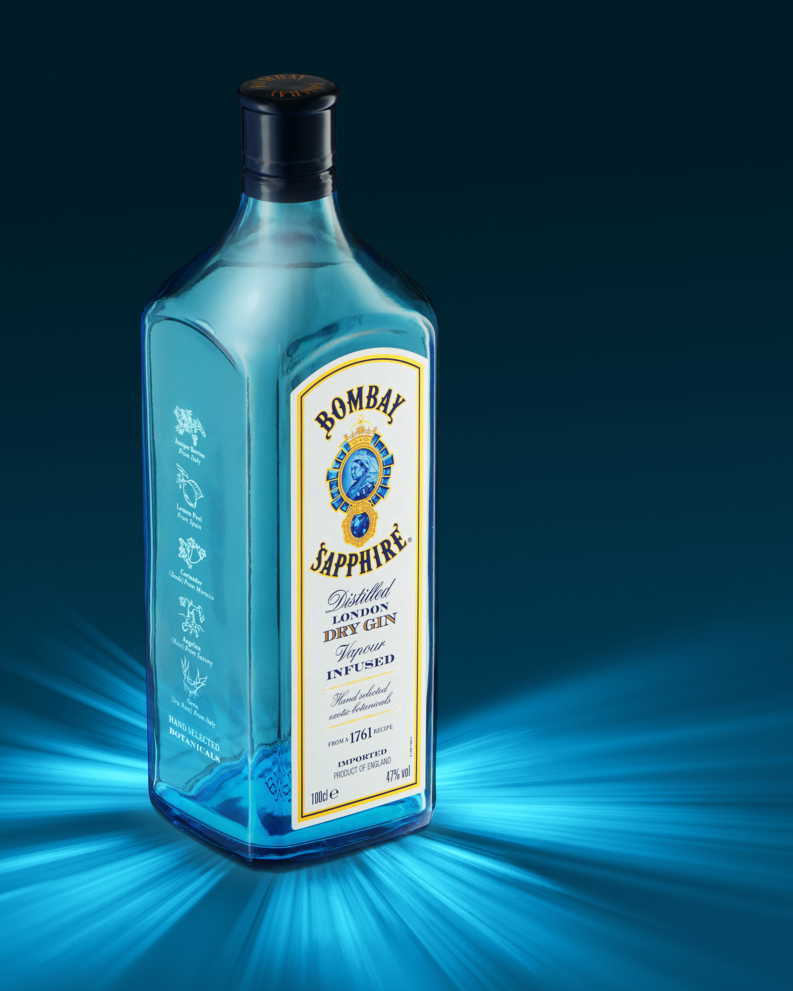 Ian Knaggs Commercial Product Photographer - Bombay Sapphire