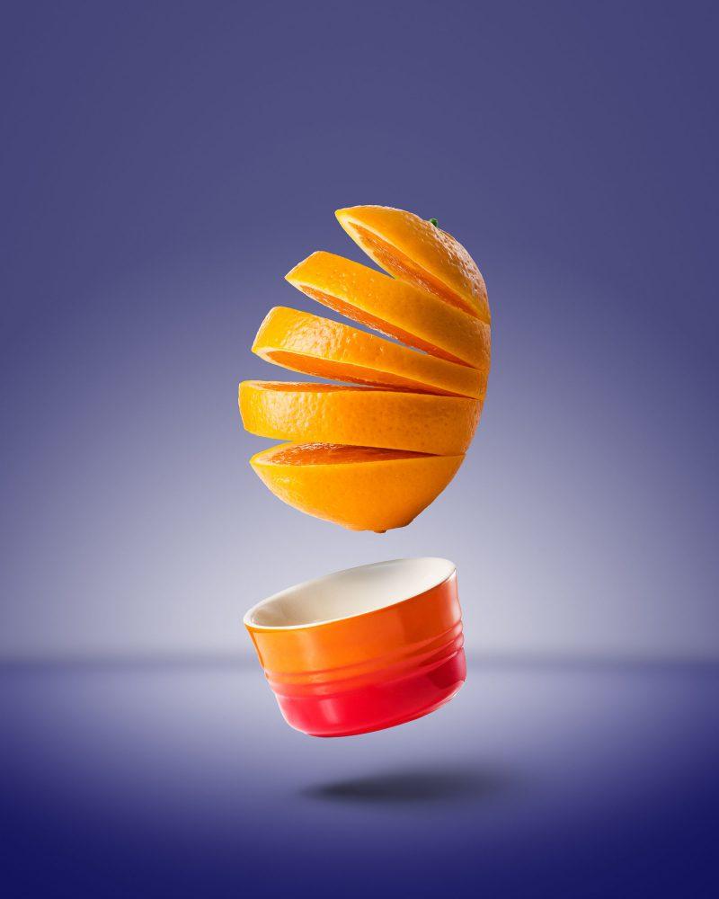 Ian Knaggs Commercial Still Life Photographer - Floating Orange