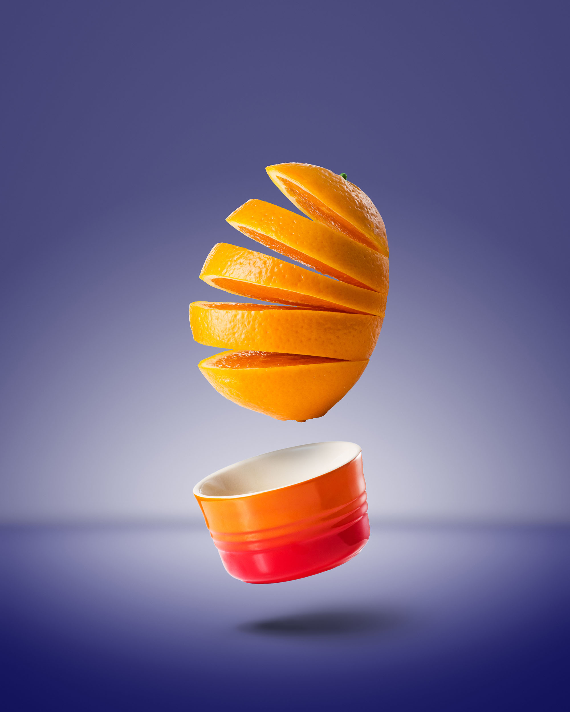 Ian Knaggs Commercial Still Life Photographer - Floating Orange