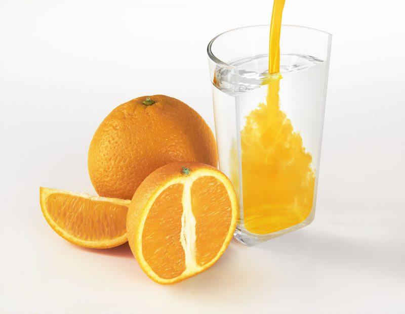 Ian Knaggs Commercial Still Life Photographer - Half Glass of Orange