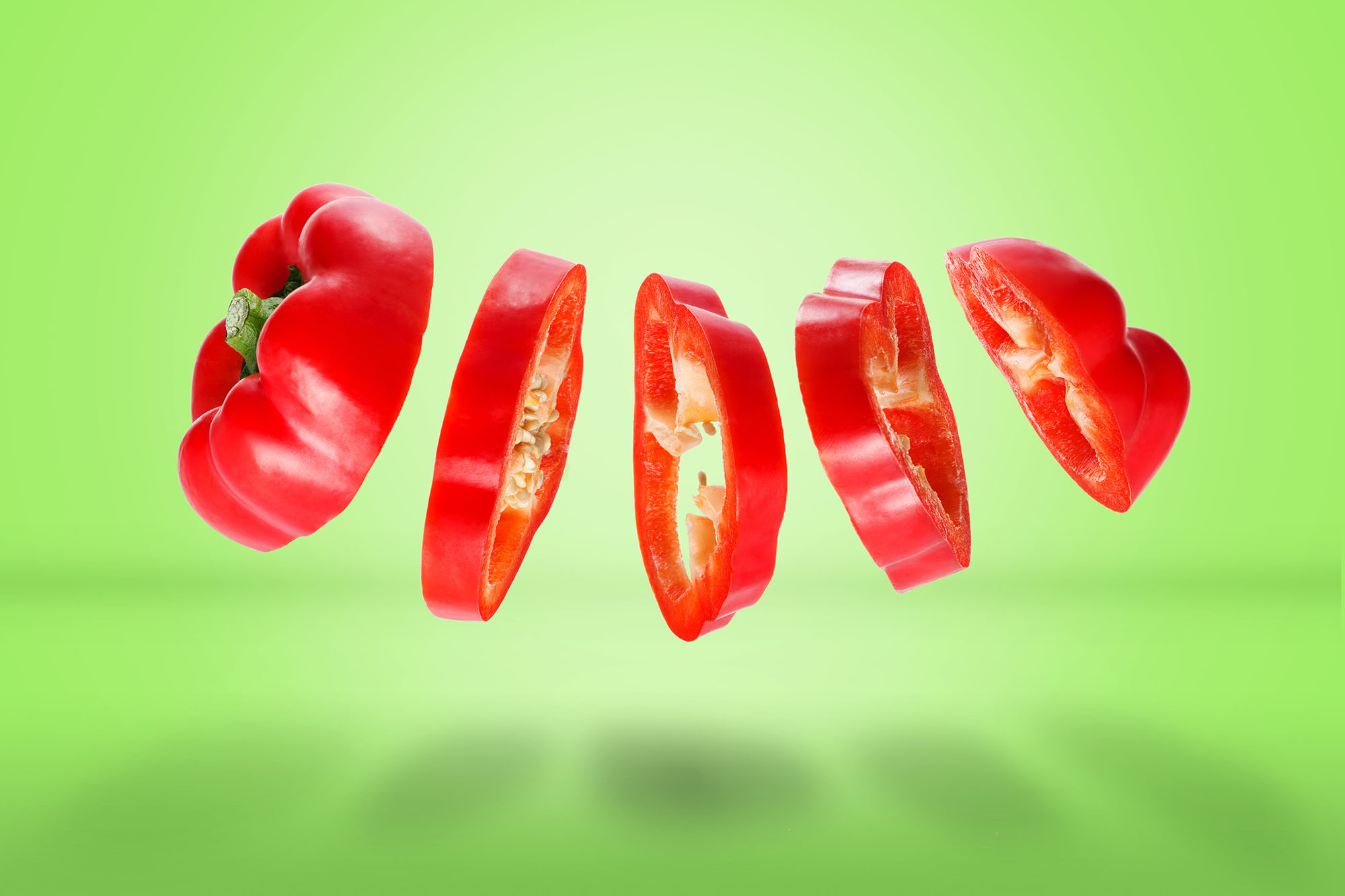 Ian Knaggs Commercial Still Life Photographer - Sliced Red Pepper