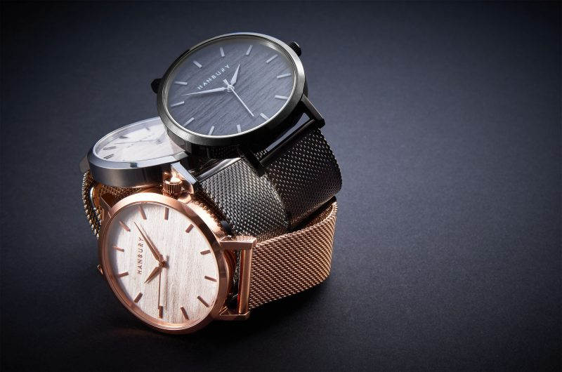 Ian Knaggs Commercial Watch Photographer - Three stack of Hanbury watches