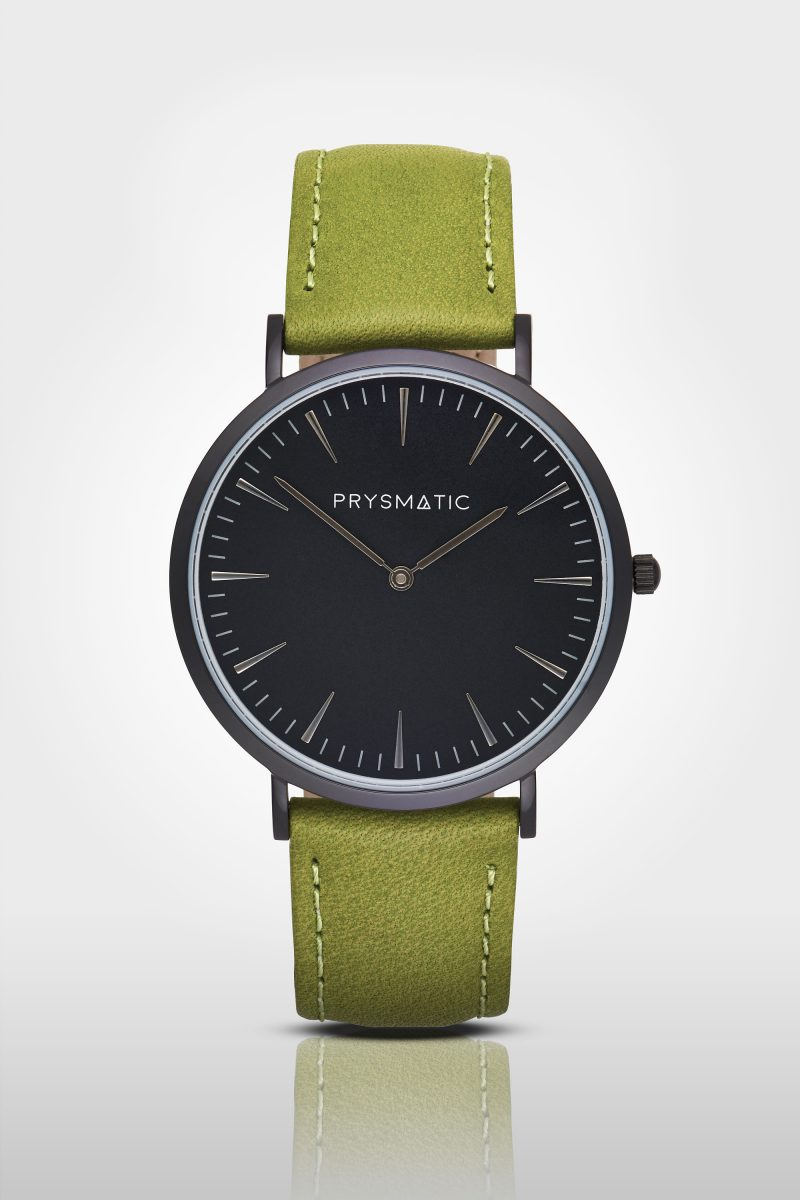 Ian Knaggs Commercial Watch Photographer - Green Prysmatic Watch on grey