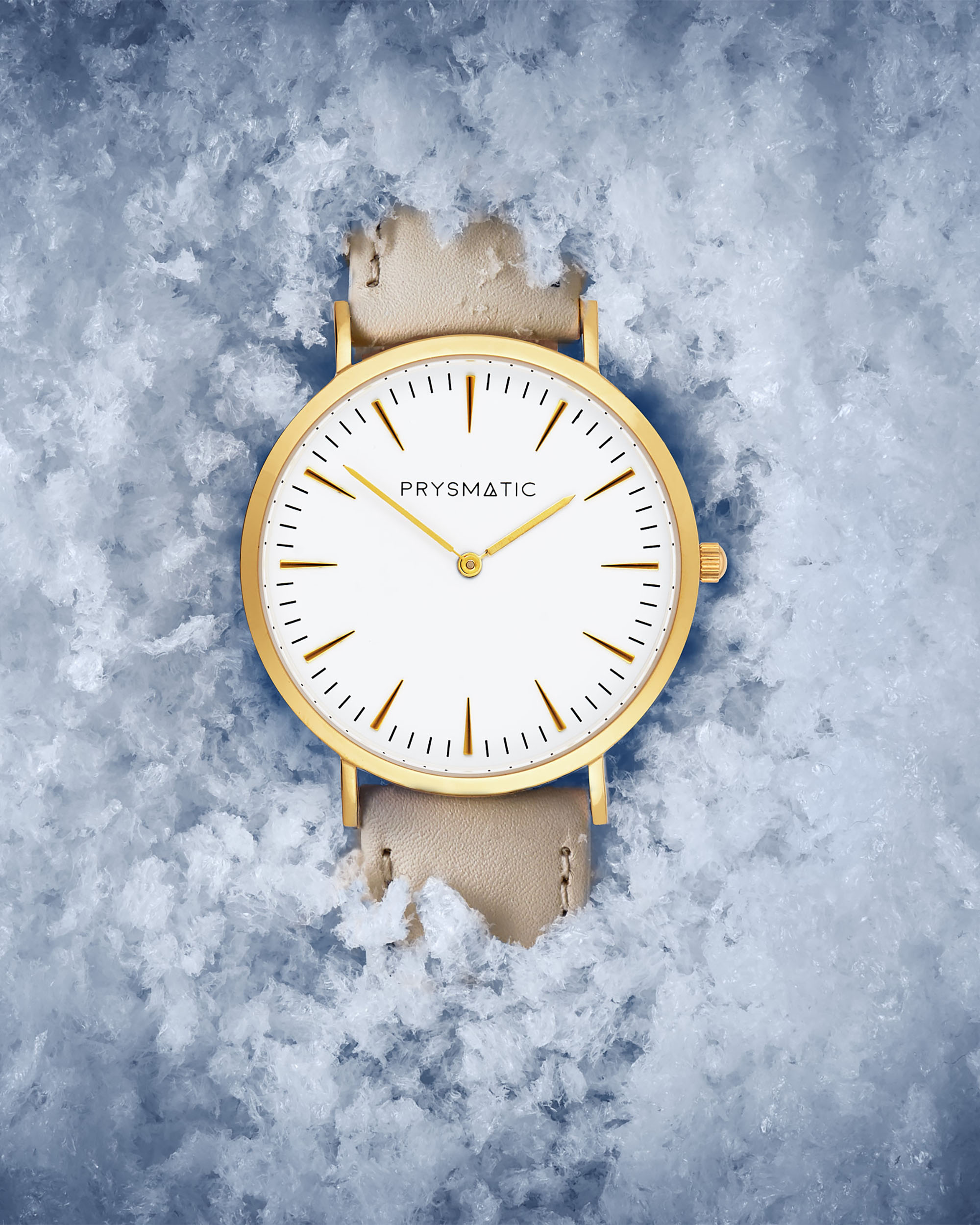 Commercial Advertising Watch Photography by Ian Knaggs - Prysmatic Watch in Snow