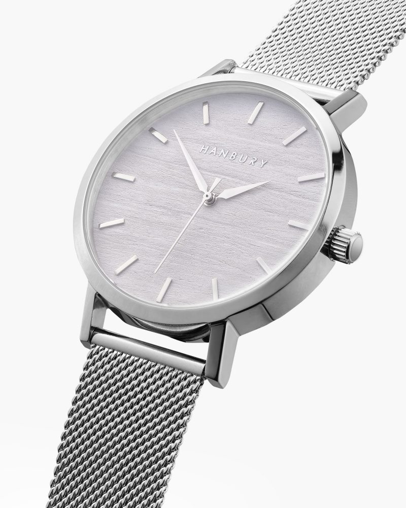 Silver Hanbury watch image - photography by Leicester UK product and advertising photographer Ian Knaggs