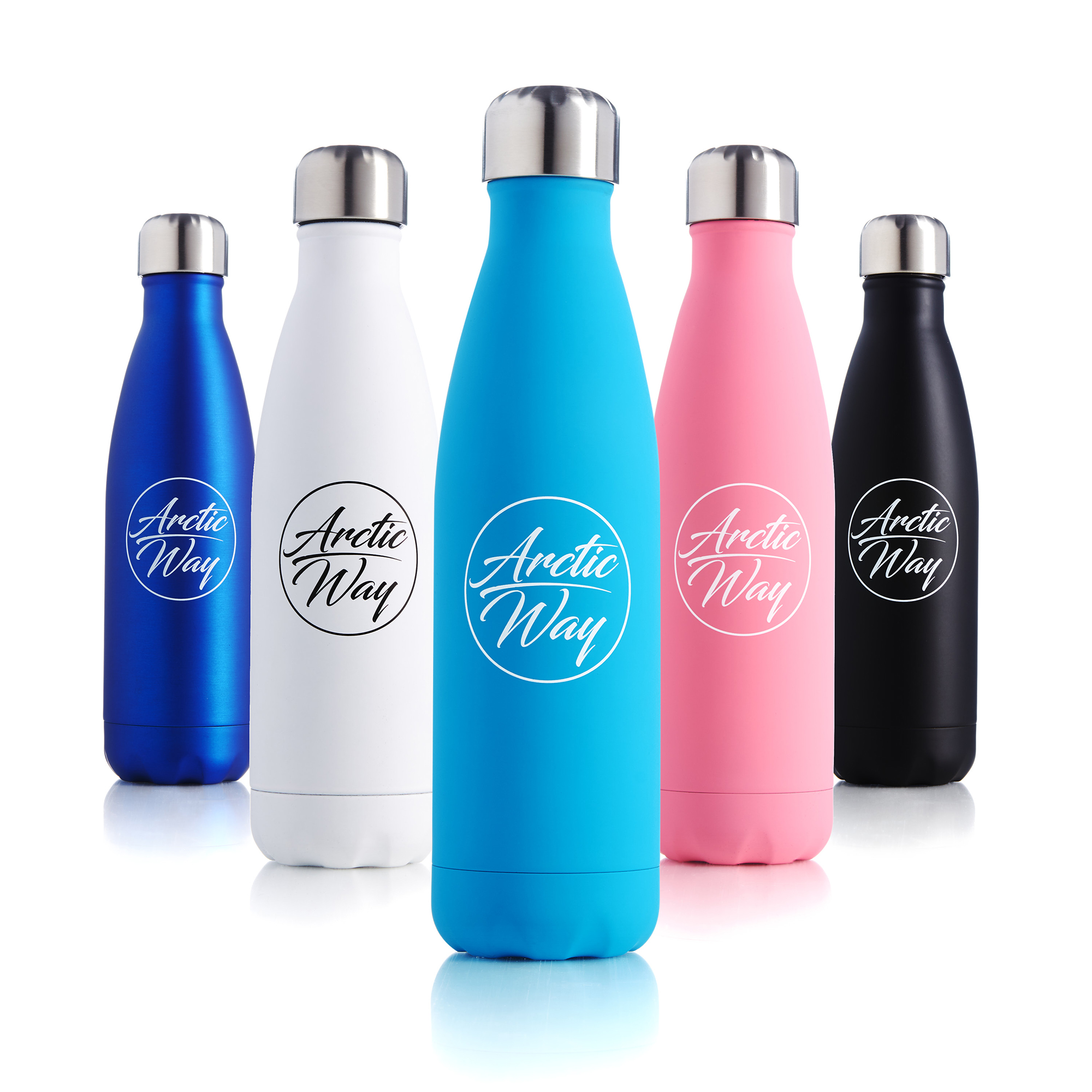 Packshot Image of drinks bottles on pure white for websites and Amazon use by UK product photographer Ian Knaggs