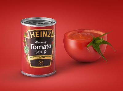 Food advertising photography of tomato soup by UK commercial photographer Ian Knaggs