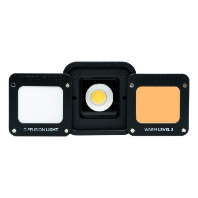 Lume Cube 2 magnetic diffusion and warm white gel
