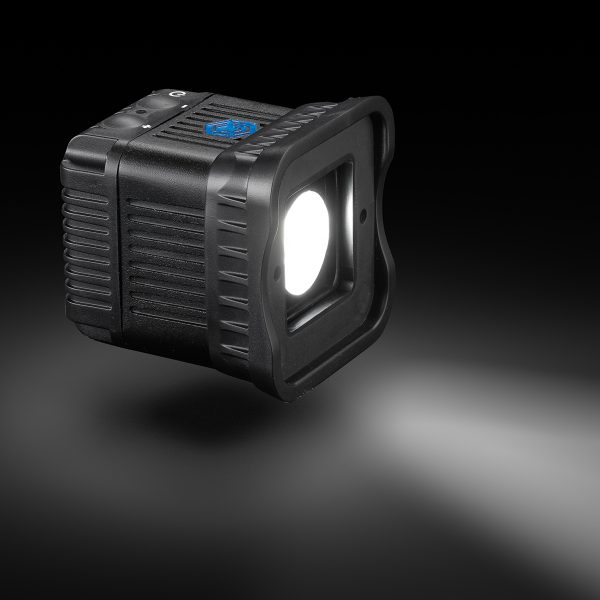 Lume Cube 2 - product photography on black with shadow and light beam