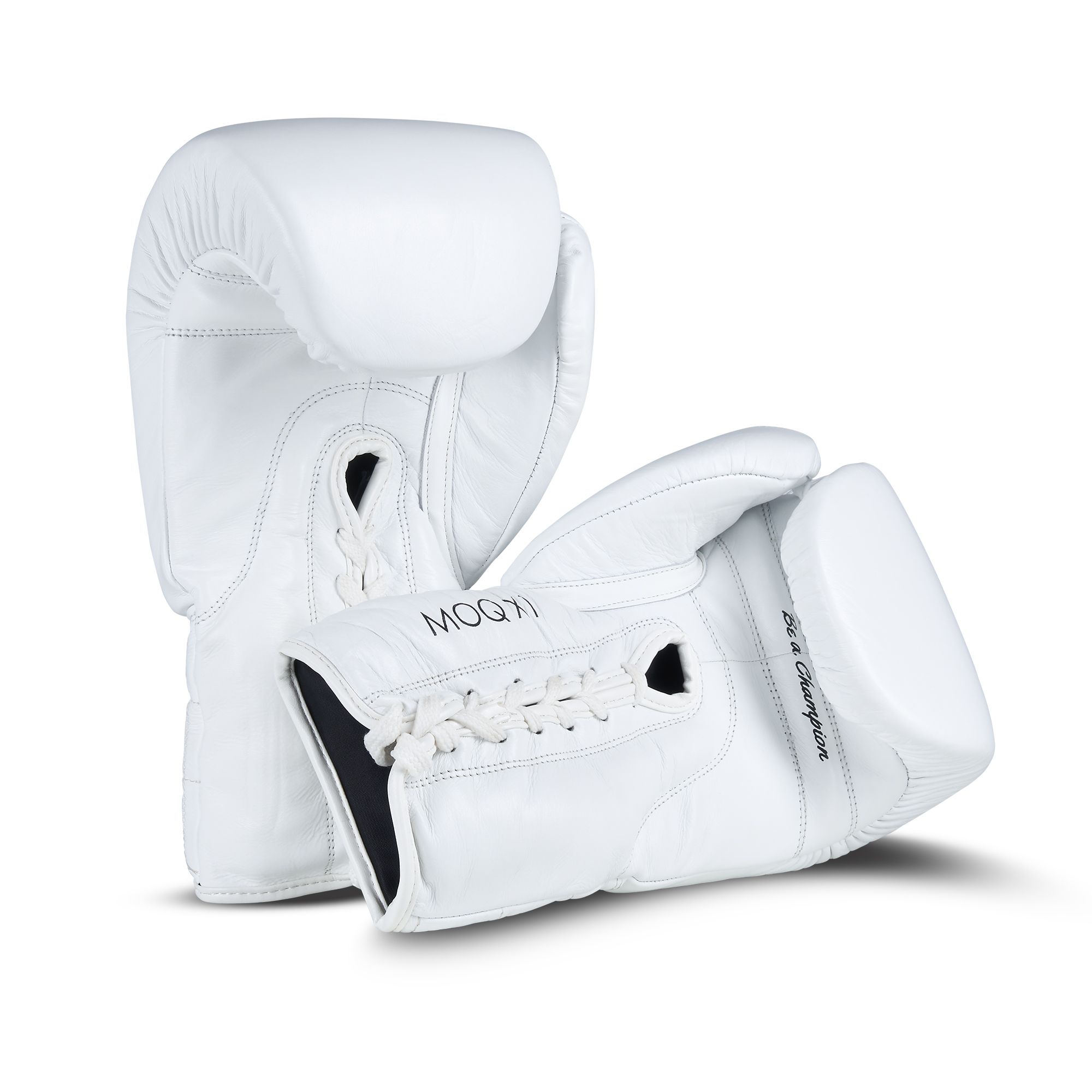 Packshot image of white boxing gloves product on white background by photographer Ian Knaggs