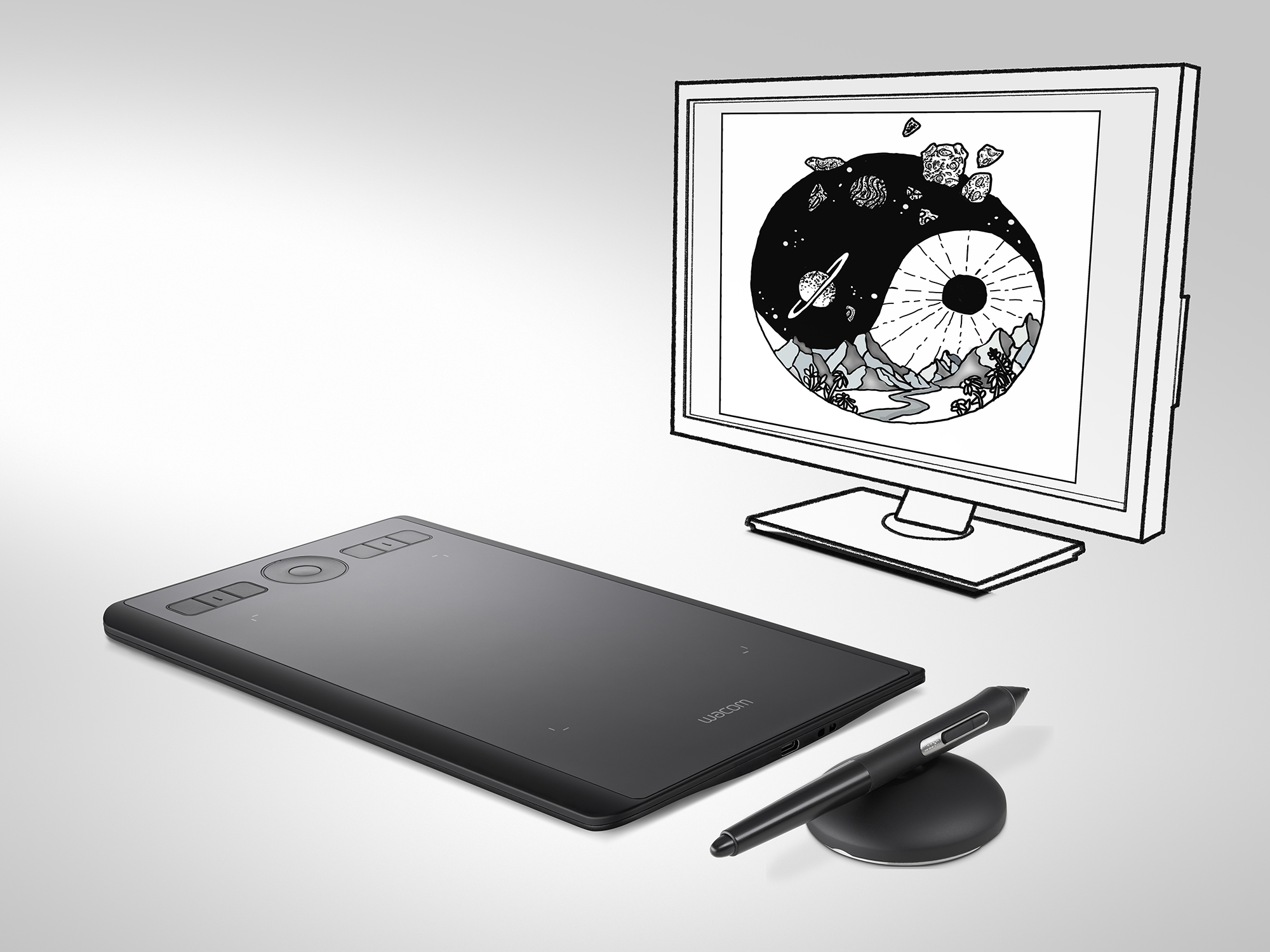 Advertising product image of Wacom Graphics Tablet by photographer Ian Knaggs