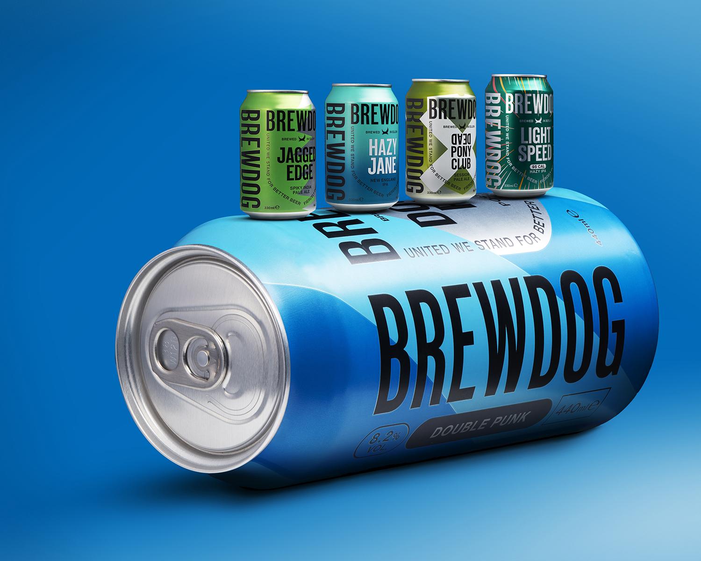 Brewdog beer - Camercraft scale - advertising Ian Knaggs